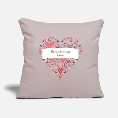 "Breastfeeding Breastfeeding Love - Throw Pillow Cover 18"" x 18"""