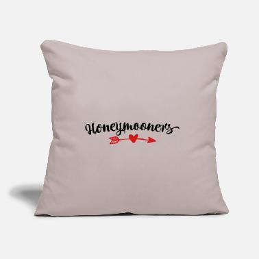 "Honeymoon Honeymooners - Throw Pillow Cover 18"" x 18"""