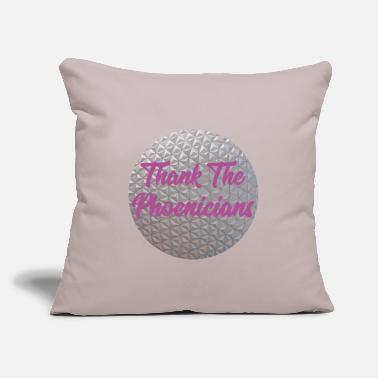 "Thank The Phoenicians - Throw Pillow Cover 18"" x 18"""