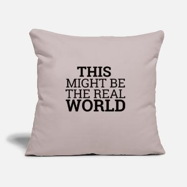 "Code Real World | Computer - Throw Pillow Cover 18"" x 18"""