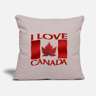 "Kangaroo I Love Canada Shirts & Canada Souvenir Gifts - Throw Pillow Cover 18"" x 18"""