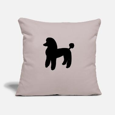"Poodle Dog - Throw Pillow Cover 18"" x 18"""