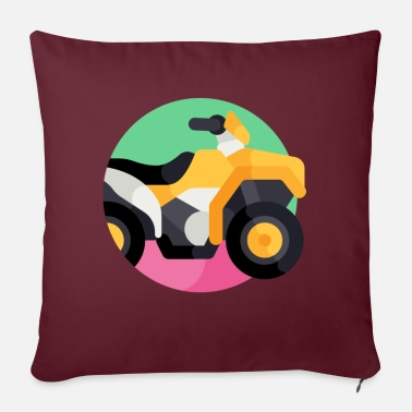 "Vehicle vehicle illustration - Throw Pillow Cover 18"" x 18"""
