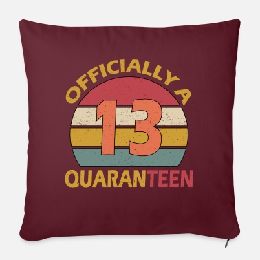 "Years 13th Birthday officially quaranteen - Throw Pillow Cover 18"" x 18"""