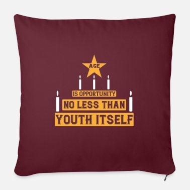 "Specific Age Age is opportunity - Throw Pillow Cover 18"" x 18"""