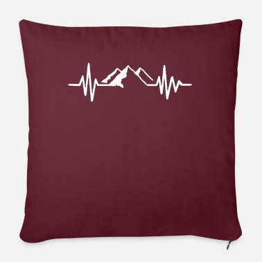 "Frequency Mountain frequency - Throw Pillow Cover 18"" x 18"""