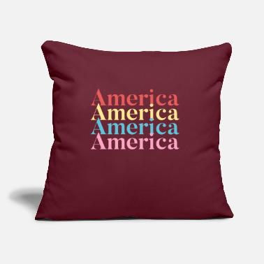 "America America America - Throw Pillow Cover 18"" x 18"""