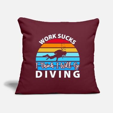 "Under Water Scuba Diving Gifts for Underwater Diver - Throw Pillow Cover 18"" x 18"""