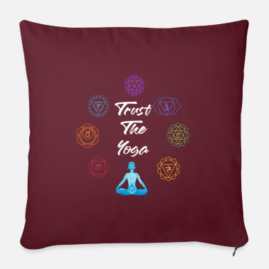 "Om Trust The Yoga - Yoga Workout Van Beach - Throw Pillow Cover 18"" x 18"""