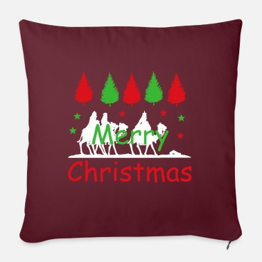 "Advent Merry Christmas - The holy three kings - Throw Pillow Cover 18"" x 18"""