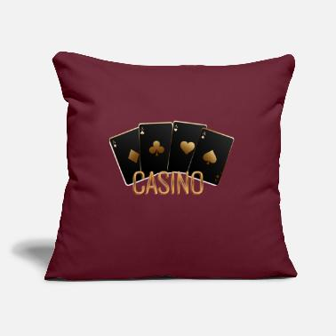 "Casino CASINO - Throw Pillow Cover 18"" x 18"""