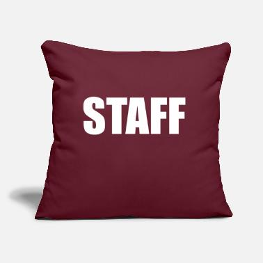 "Staff STAFF - Throw Pillow Cover 18"" x 18"""