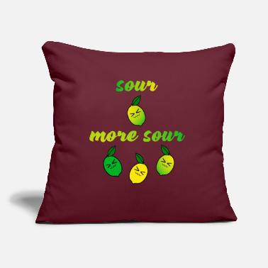 "Sour sour more sour - Throw Pillow Cover 18"" x 18"""