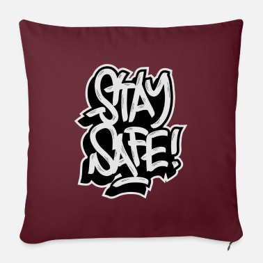 "Stay Safe stay safe - Throw Pillow Cover 18"" x 18"""