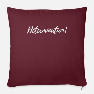 "Determination - Throw Pillow Cover 18"" x 18"""