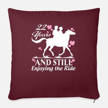 "22 22 Years Wedding Gifts What To Get For Anniversary - Throw Pillow Cover 18"" x 18"""