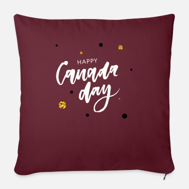 "Maple Happy Canada Day - Throw Pillow Cover 18"" x 18"""