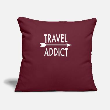 "Travel Travel Addict - Throw Pillow Cover 18"" x 18"""