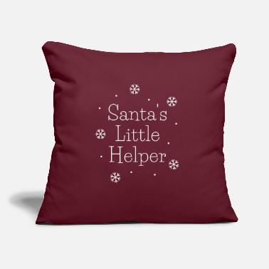 "Santas little helper - Throw Pillow Cover 18"" x 18"""