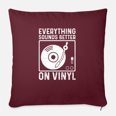 "Indie Everything Sounds Better On Vinyl - Music - Throw Pillow Cover 18"" x 18"""