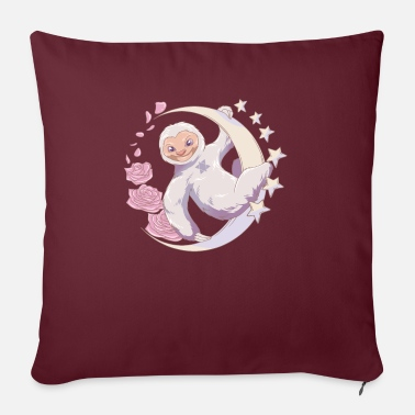 "Pastel Goth Sloth - Nu Goth - Throw Pillow Cover 18"" x 18"""