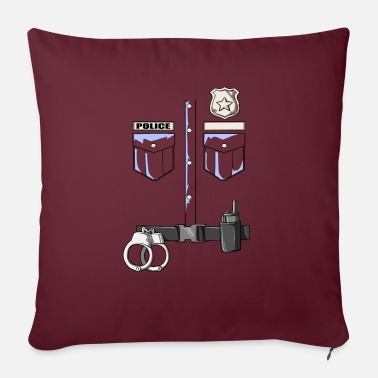 "Police - Police Uniform For Children - Throw Pillow Cover 18"" x 18"""