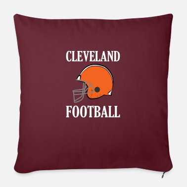 "America Cleveland Football - Throw Pillow Cover 18"" x 18"""