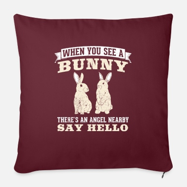 "Carrot Awesome Rabbit Design Quote When You See A Rabbit - Throw Pillow Cover 18"" x 18"""