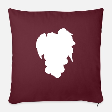 "Tenderness grapes fruit white color pastel | elegant minimali - Throw Pillow Cover 18"" x 18"""