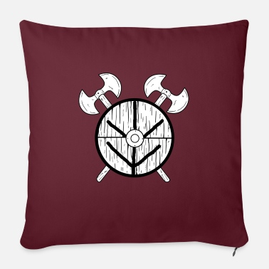 "Shield Maid Shield Maid Norse Mythology Viking - Throw Pillow Cover 18"" x 18"""