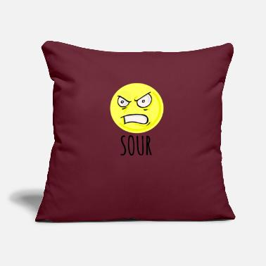 "Sour Sour - Throw Pillow Cover 18"" x 18"""