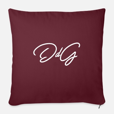 "ddg white - Throw Pillow Cover 18"" x 18"""