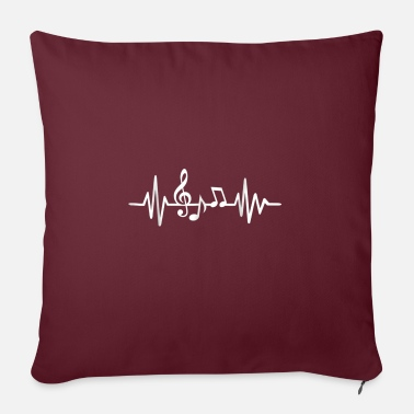 "Frequency Music frequency - Throw Pillow Cover 18"" x 18"""