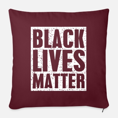"Black Black Lives Matter, Black Lives Matter - Throw Pillow Cover 18"" x 18"""