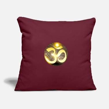 "Om om om om peace - Throw Pillow Cover 18"" x 18"""