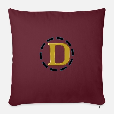 "Initial-d D Logo spreadshirtbest selling printed tshirts t s - Throw Pillow Cover 18"" x 18"""