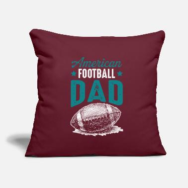 "Daddy Football Daddy Daddy - Throw Pillow Cover 18"" x 18"""