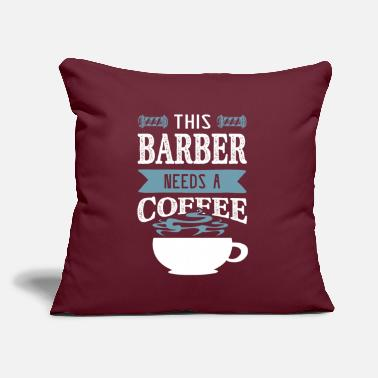 "Mustache Hairdresser coffee - Throw Pillow Cover 18"" x 18"""