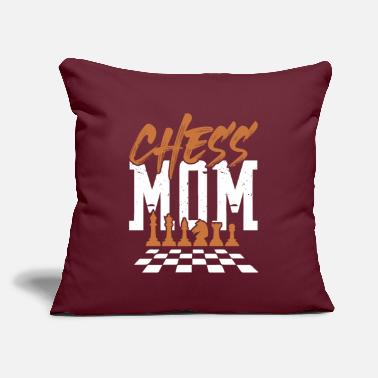 "Chess mom mom chess - Throw Pillow Cover 18"" x 18"""