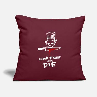 "Bourdain Cook Free Or Die - Throw Pillow Cover 18"" x 18"""