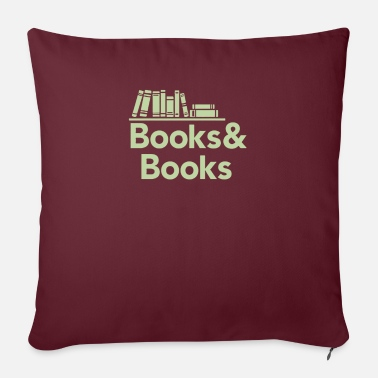 "Book Books and books - Throw Pillow Cover 18"" x 18"""