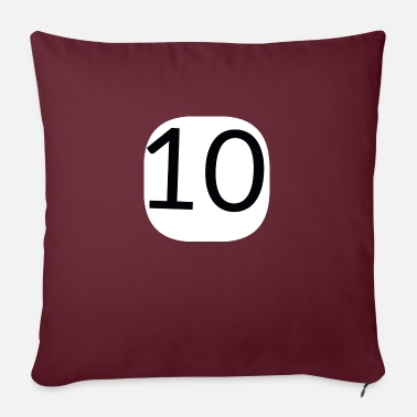 "TEN - Throw Pillow Cover 18"" x 18"""