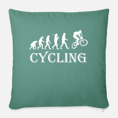 "Cycle Cycle Evolution Cycling - Throw Pillow Cover 18"" x 18"""