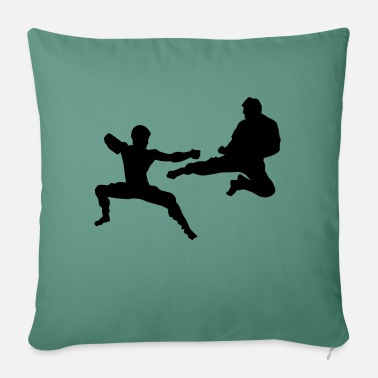 "Sparring Kumite or Sparring - Throw Pillow Cover 18"" x 18"""