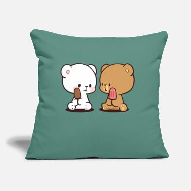 "Milk milk milk milk mocha mocha mocha - Throw Pillow Cover 18"" x 18"""