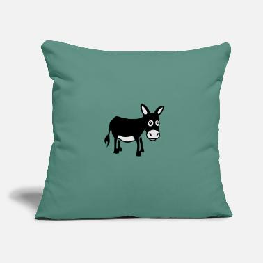 "donkey / âne - Throw Pillow Cover 18"" x 18"""