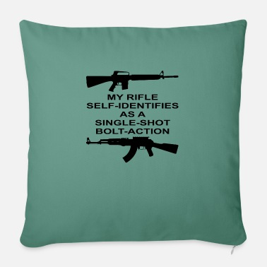 "Bolt-action Rifles My Rifle Self Identifies As A Single Shot Bolt Act - Throw Pillow Cover 18"" x 18"""