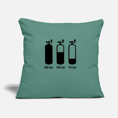 "Scuba scuba - Throw Pillow Cover 18"" x 18"""