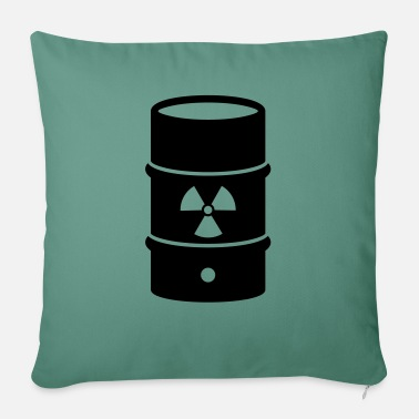 "Nuclear Waste atomic waste biohazard nuclear energy - Throw Pillow Cover 18"" x 18"""
