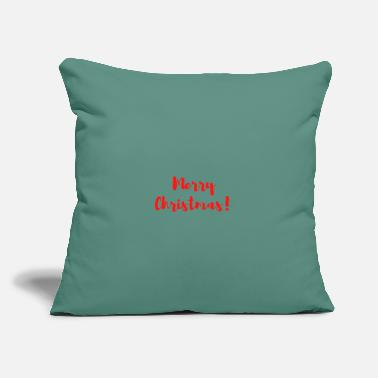 "Cover merry christmas - Throw Pillow Cover 18"" x 18"""